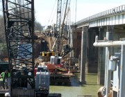 Temporary Construction Bridge at Oyster Creek