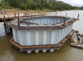 Highway 105 River Bridge Cofferdams